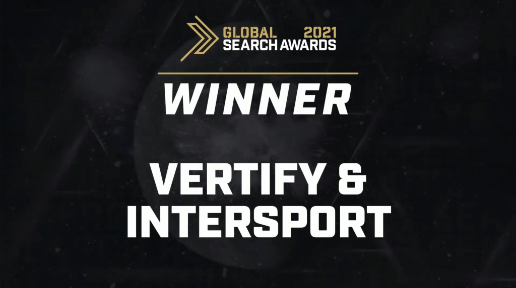 Global Search Awards: Vertify & Intersport